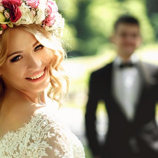 mariés sourire