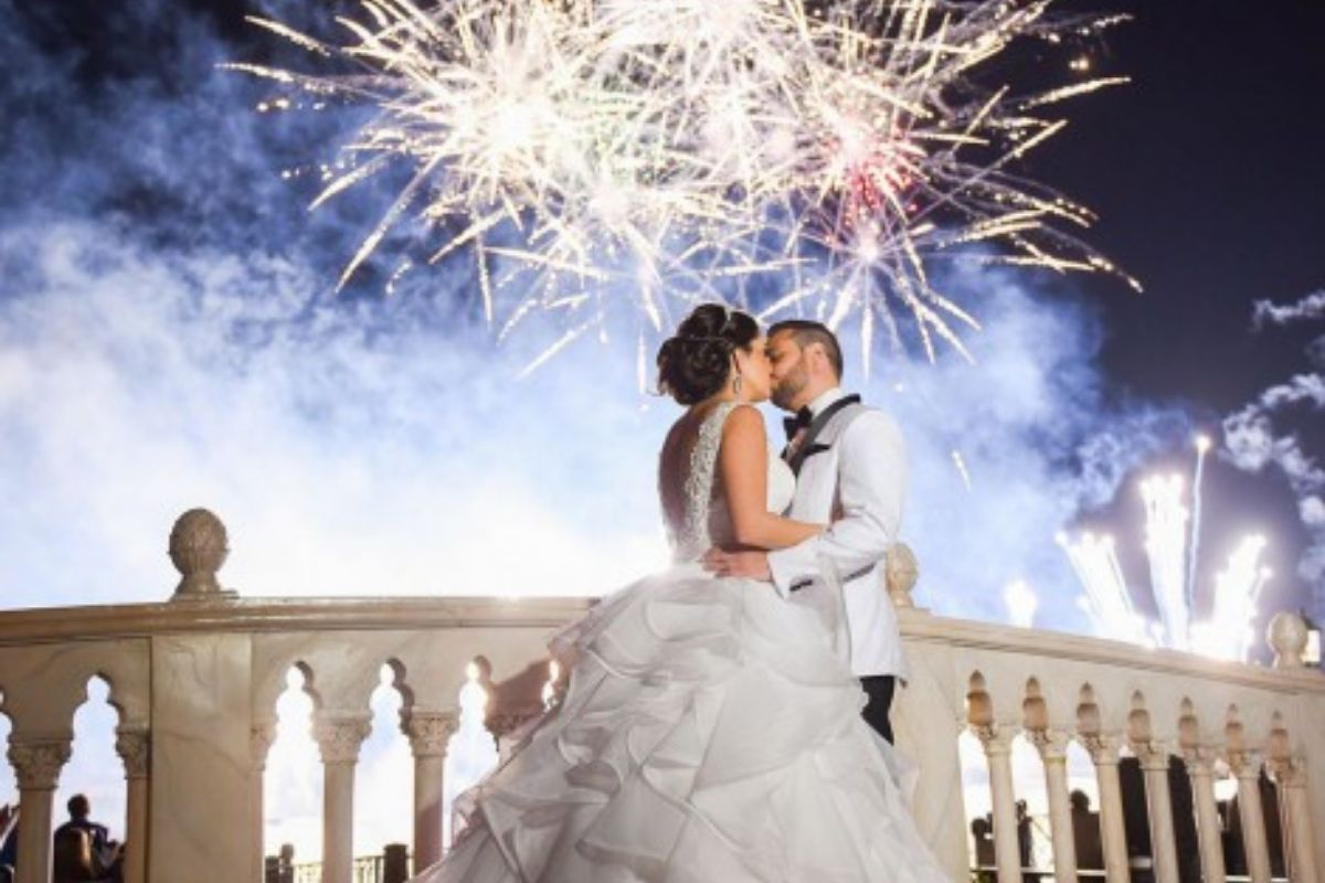 feu d'artifice mariage moment magique amour love animation